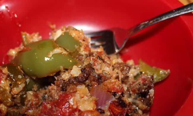 Low Carb Stuffed Peppers in a Skillet!