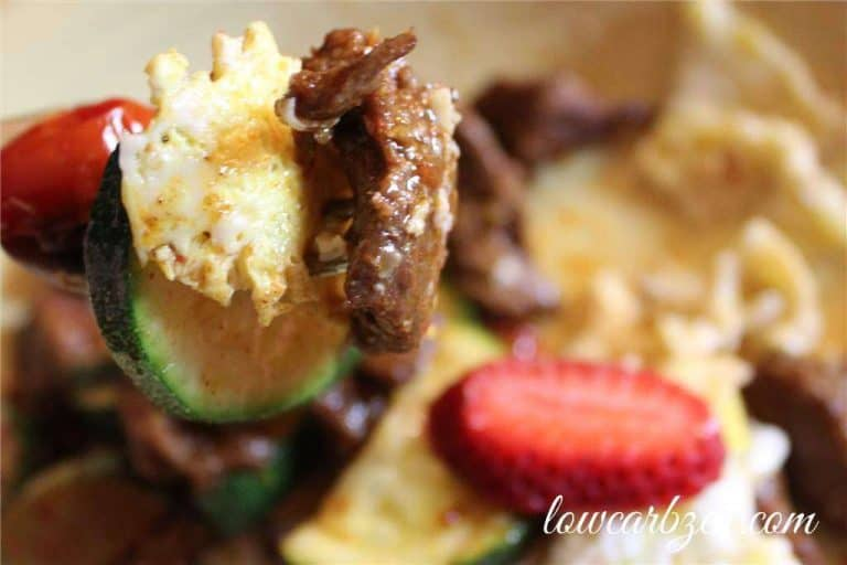 Spicy Low Carb Skillet Dish: Steak and Eggs 2