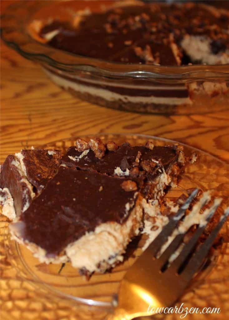 Low Carb Peanut Butter Chocolate Pie