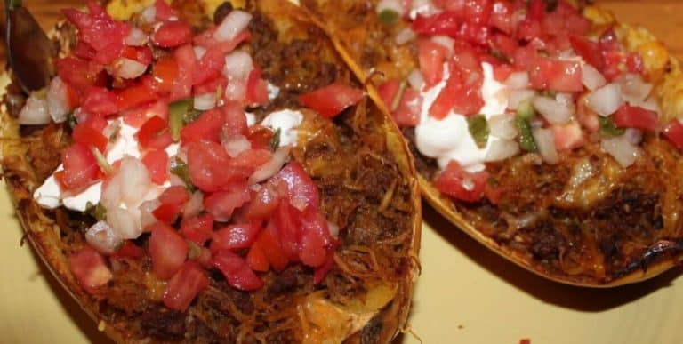Low Carb Mexican Spaghetti Squash Boats 2
