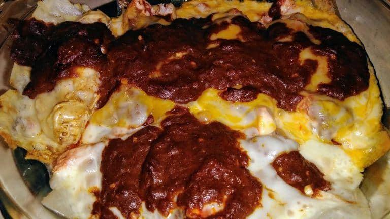 Easy Keto Chicken Enchilada Casserole