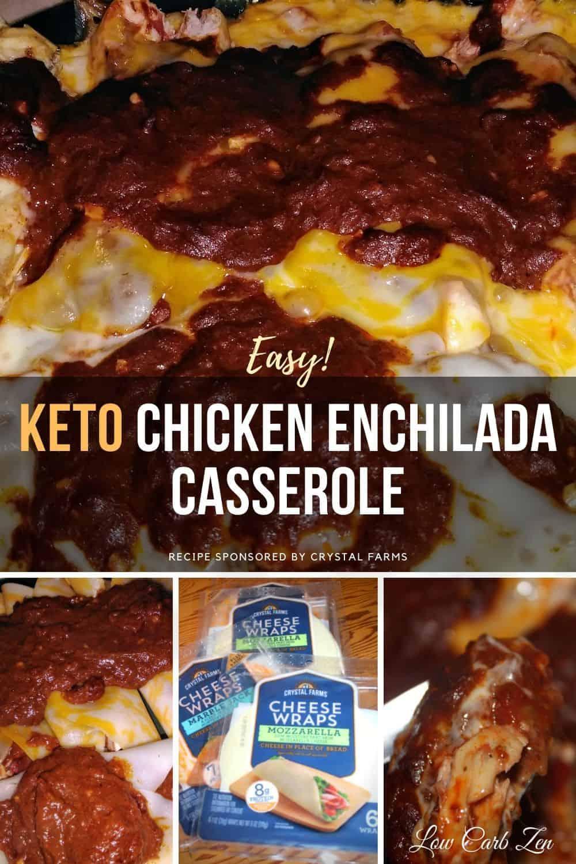 Delightfully Easy Keto Chicken Enchilada Casserole