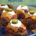 Cute and tasty low carb nacho meatballs!