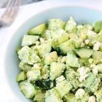 Cucumber , Avocado and Feta Salad